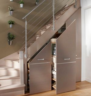 clever storage under the stairs