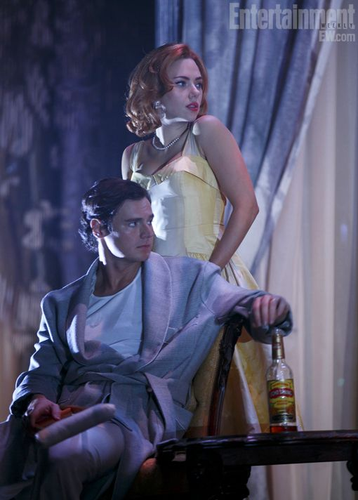 ScarJo (and Benjamin Walker) smolder in this first photo from Broadway's new Cat on a Hot Tin Roof.