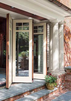 puertas plegables al jardin