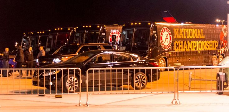 The Alabama Crimson Tide has arrived in Atlanta for the College Football Playoff National Championship vs the Georgia Bulldogs.