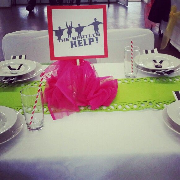 Beatles inspired centre pieces by me