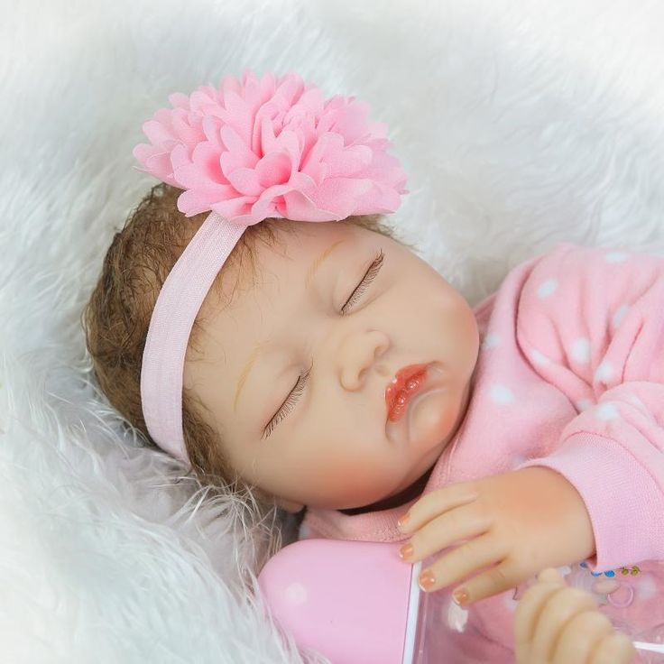 """71.62$  Buy here - """"Silicone reborn dolls baby toys 22"""""""" 55cm soft real sleeping baby dolls for kids gift bebe girl reborn bonecas""""  #shopstyle"""