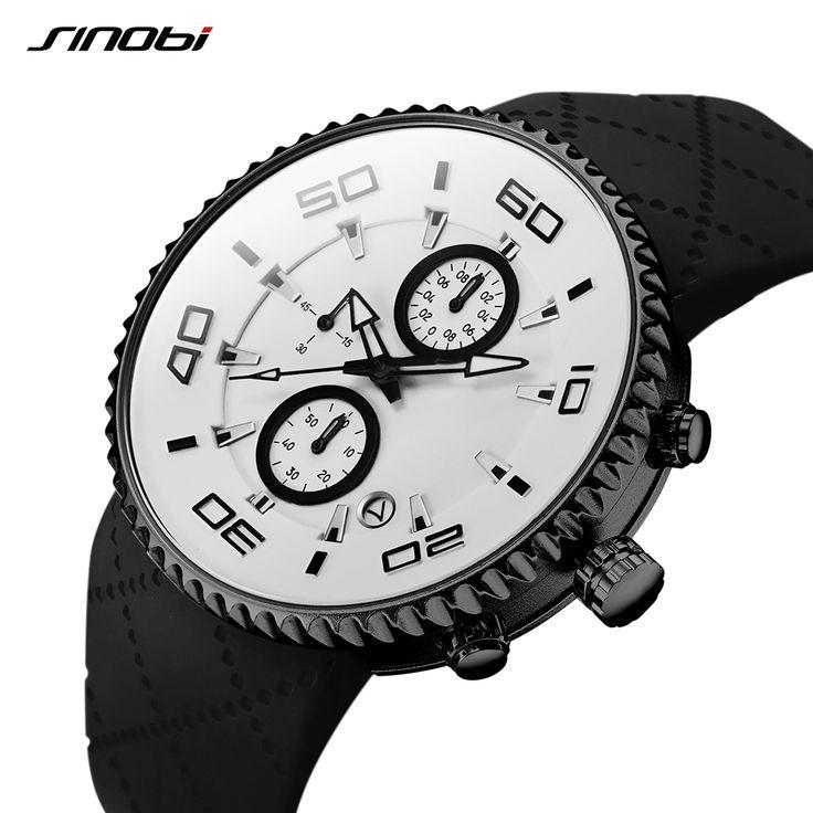 Sports Watches relaxation Mens Stopwatch 30m Waterproof Watch Reloj Hombre SINOBI Sport Chronograph Watch Free Shipping $16.41