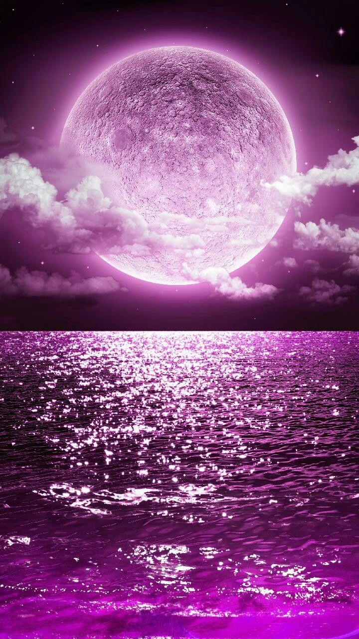 Purple Moon Pink Moon Wallpaper Cute Galaxy Wallpaper Beautiful Wallpapers Backgrounds