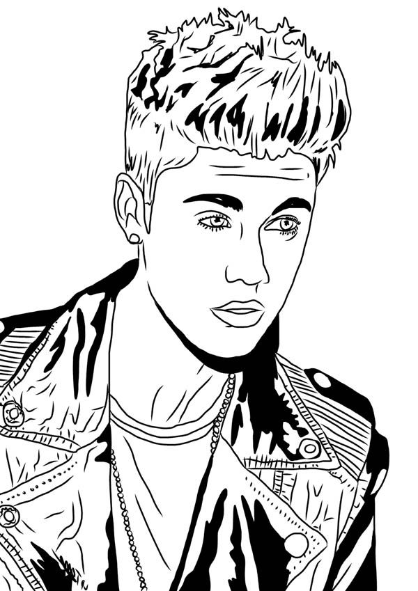 coloring pages justin bieber print - photo#25