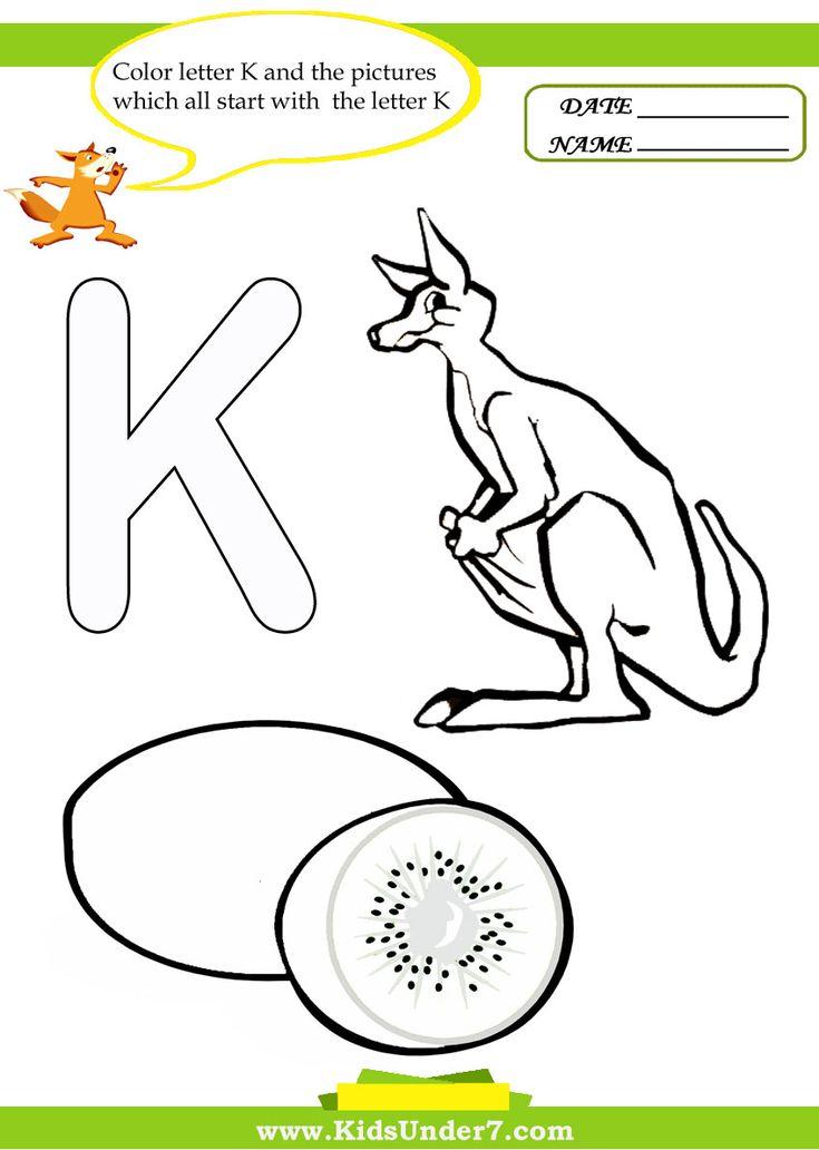 letter k coloring pages letterk alphabet coloringpages worksheets preschool lesson plans. Black Bedroom Furniture Sets. Home Design Ideas