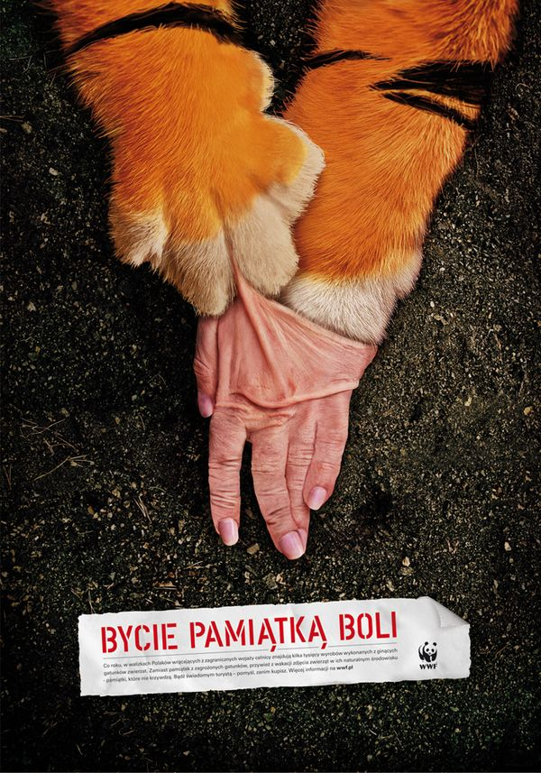 WWF Posters against killing animals for material goods #WWF #Advertising
