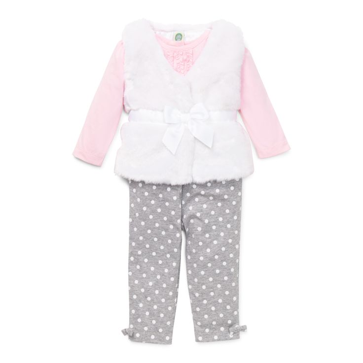Little Me Boutique - Infant Girls Fur Vest and Legging Set, $48.00 (http://www.littleme.com/infant-girls-fur-vest-and-legging-set/)