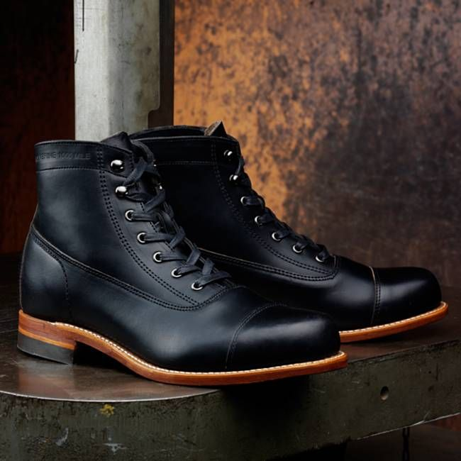 Wolverine makes fine examples here in America, notably the Rockford Mile boot. It is cut from durable Horween Chromexcel leather and features an archival cap-toe design, Goodyear welt construction, a leather outsole and a stacked leather heel.