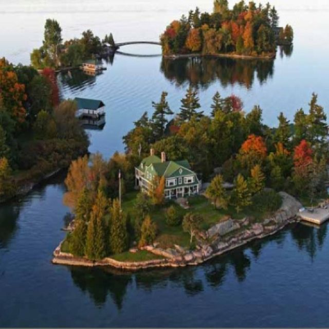 The Thousand Islands in the St. Lawrence River, between New York State & Ontario