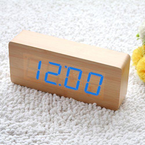 EiioX Bois Réveil Lumineux LED Bleu Horloge Digitale avec l'heure et la Température EiioX http://www.amazon.fr/dp/B00H7TOD2S/ref=cm_sw_r_pi_dp_qf4yvb0H53DX1