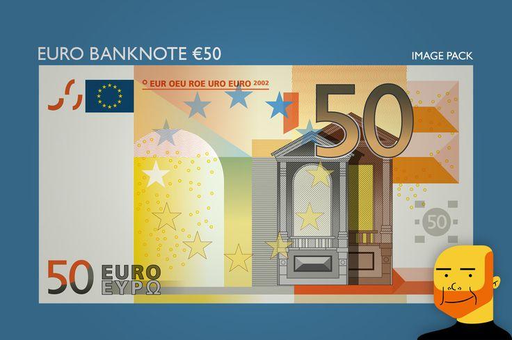 Euro Banknote €50  (Image) by Paulo Buchinho on Creative Market