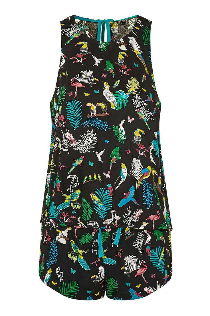 Tropical Print Pyjama Set - Topshop