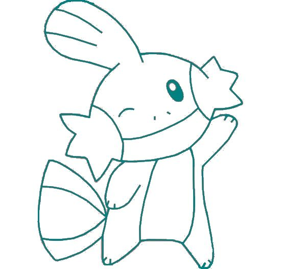 mudkip pokemon coloring pages-#23