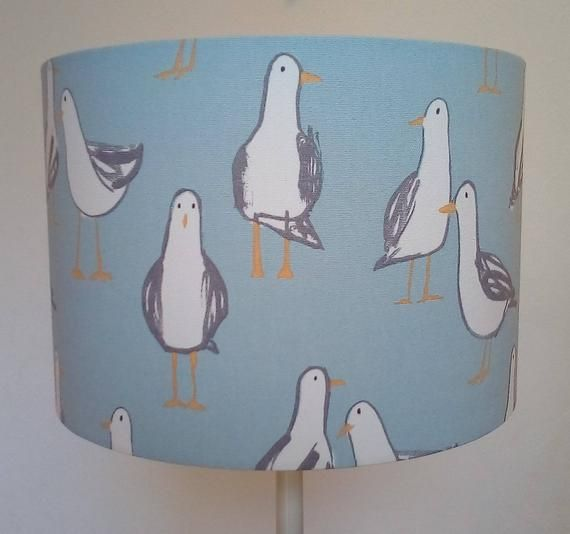 Handmade  Seagull Print Lampshade 30cm