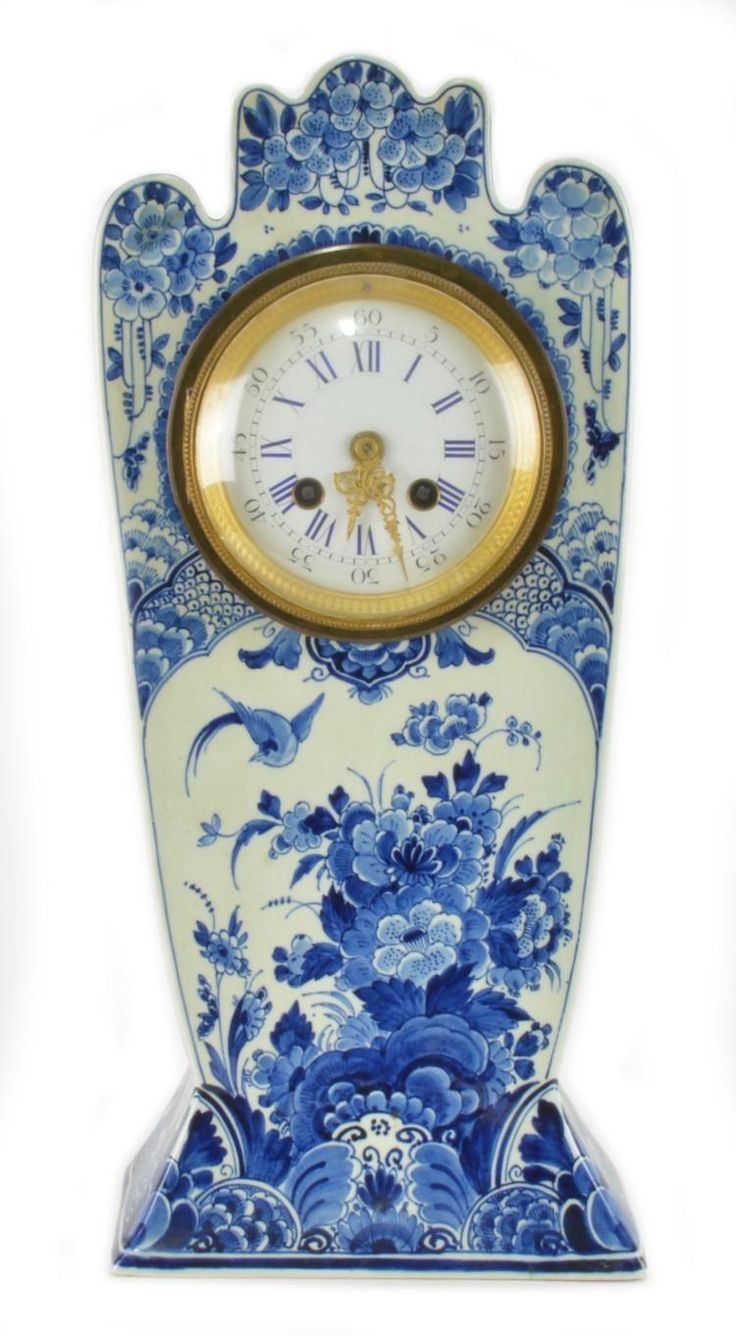 French Thoout and Labouchere Delft China Case Clock