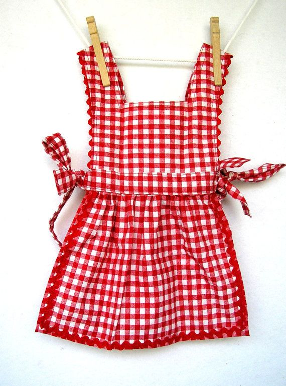 Lil Red Riding Hood Pinafore Dress by peapodray on Etsy, $25.00 - sophia's costume planning begins :)