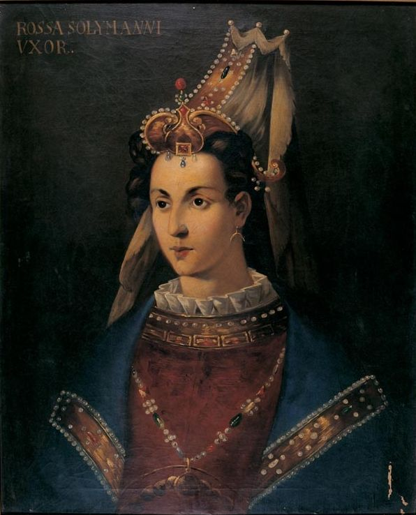 Portrait of Haseki Hürrem Sultan, the wife of Suleiman the Magnificent, Topkapi Palace, Istanbul