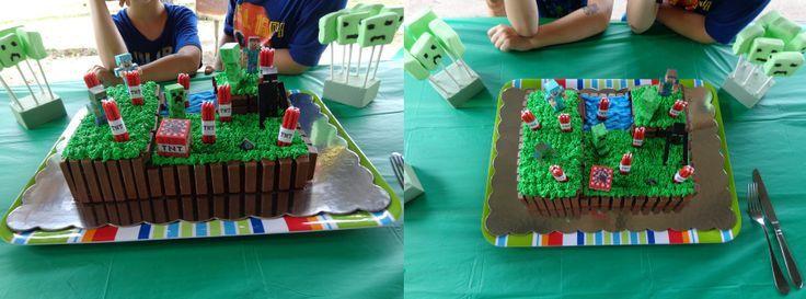 homemade minecraft cake - Google Search                              …