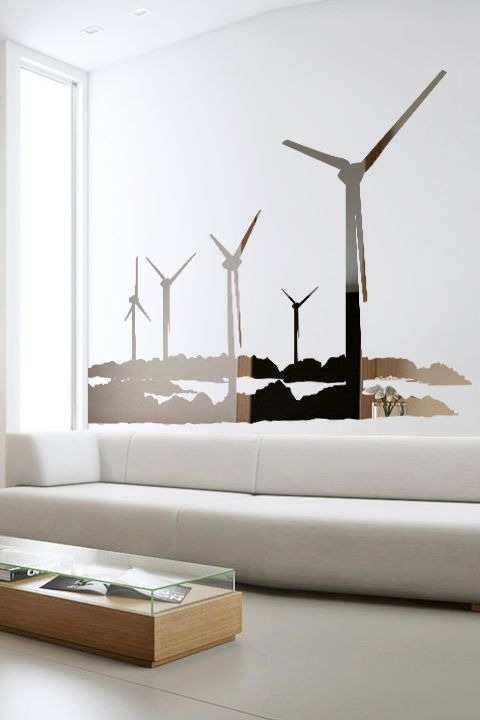 Windmill reflective wall decal by walltat com