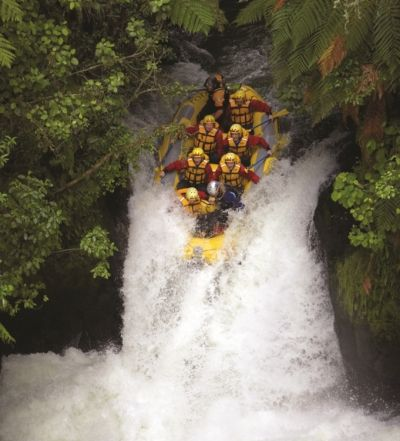 The highest commercially rafted waterfall in the world, Rotorua