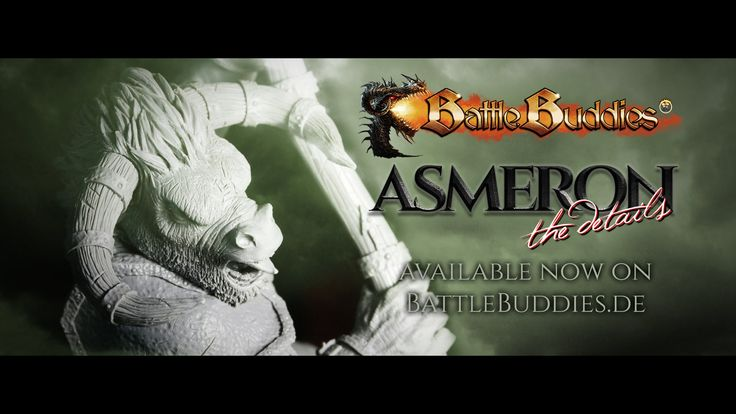 Asmeron - our big Minotaur Monster... 28mm scale 50x50 base - available on battlebuddies.de on 29th of september