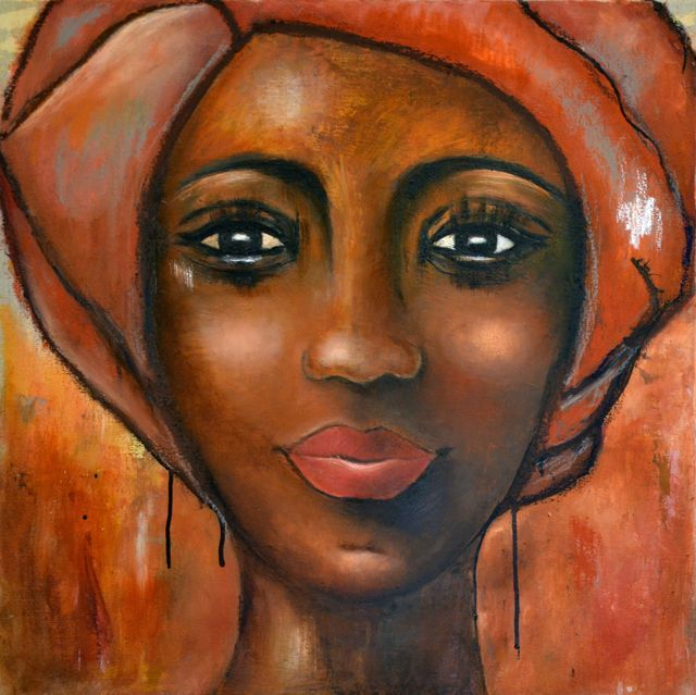 Favori 105 best Art FEMME AFRICAINE images on Pinterest | Painting  BF78