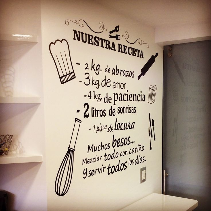 M s de 25 ideas incre bles sobre frases cocina en for Pegatinas frases pared