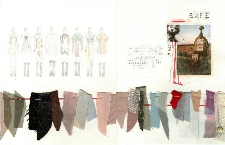 ILLUSTRATION || Fashion Sketchbook - fashion design process, fashion illustration, theme & fabrics; fashion portfolio