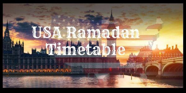 USA Ramadan Calendar 2019 (Timetable): Fasting Times