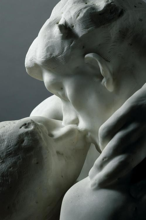 Auguste Rodin - The Kiss, 1852 | My favorite sculpture, and a GREAT angle.