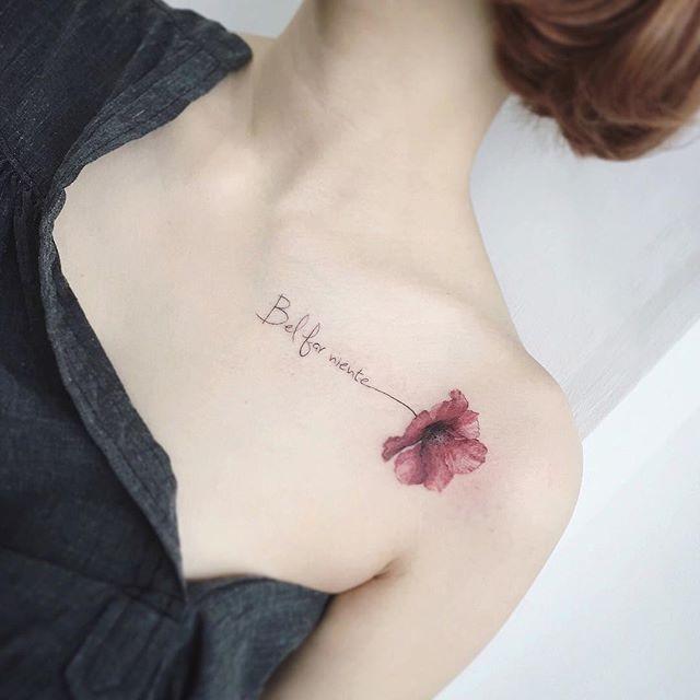 Tatuajes delicados de flores