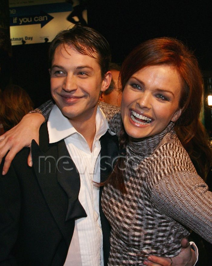 The boy and the cougar: A very young Tom Hardy & Dina Tom Hardy & Dina Meyer at the Star Trek Nemesis première
