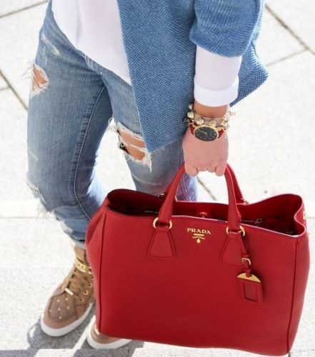red prada bag- Prada handbags new collection http://www.justtrendygirls.com/prada-handbags-new-collection/  Diese und weitere Taschen auf www.designertaschen-shops.de entdecken