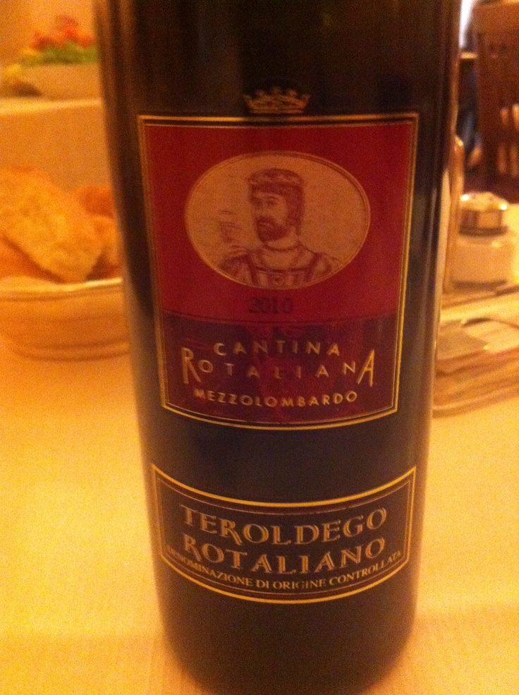 Red wine from Trentino