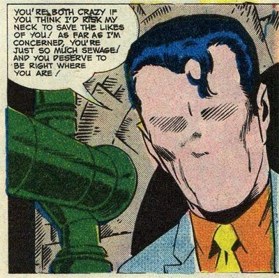 Image result for the question superhero sewer scene
