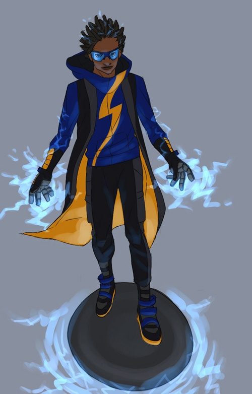 Static Shock  i like this design alot the vest is like a hoodie cape type dealio