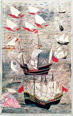 The Ottoman fleet in the Indian Ocean, 16th century.