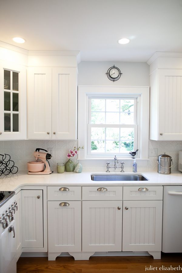 add strips centers cabinets windowpane glass drawer pulls knobs adding beadboard to existing kitchen wallpaper