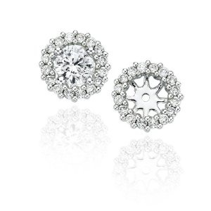 Diamond Jackets for solitaire earrings - pretty...will replace