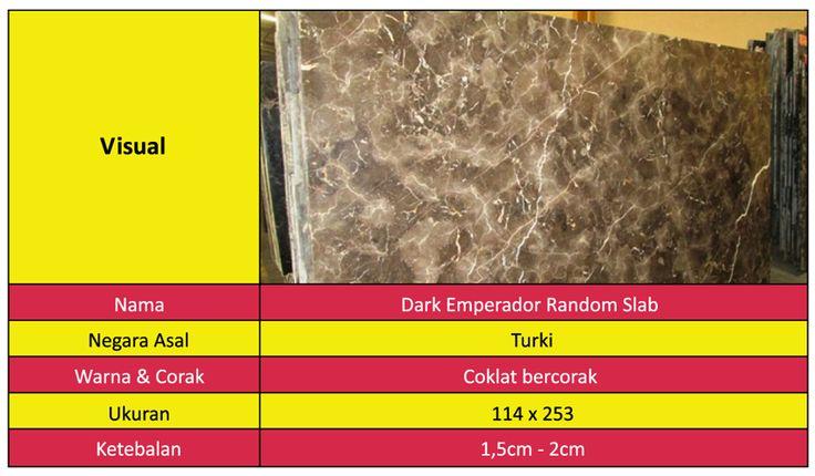 Marmer Import Dark Emperador Random Slab