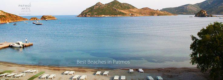 Grikos beach, #Patmos. Wonderful view from Patmos Aktis Hotel while swimming in deep blue waters of Grikos.