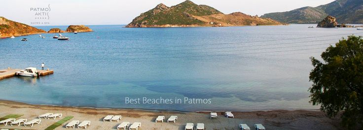 Grikos beach, #Patmos. Wonderful view from Patmos Aktis Hotel while swimming in deep blue waters of Grikos.