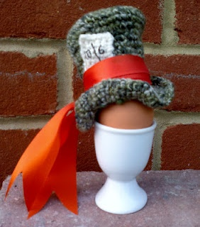 and crochet!  Mad Hatter egg cosy by Nicola Hale.  Love it