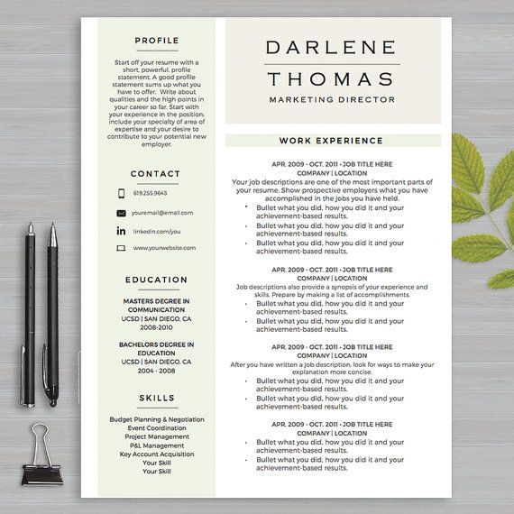 19 best Resume Templates | Microsoft WORD images on Pinterest ...