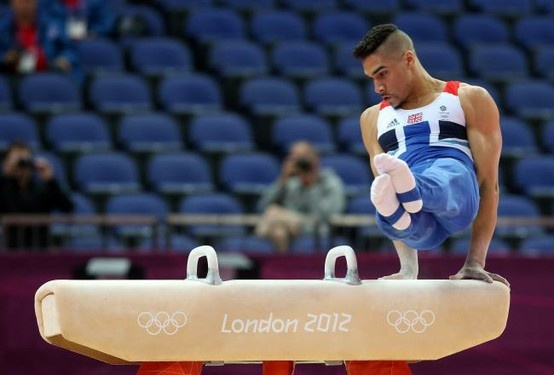 Louis Smith's performance on the pommel horse