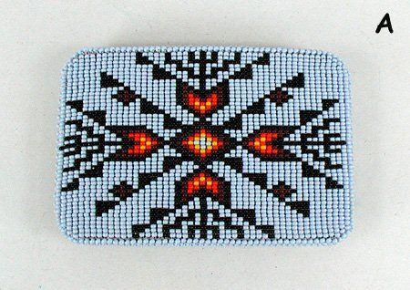 Authentic Lakota Sioux hand beaded belt buckle