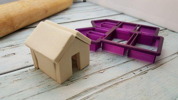 Mini Gingerbread House Mug Hanger Cookie Cutter and Fondant
