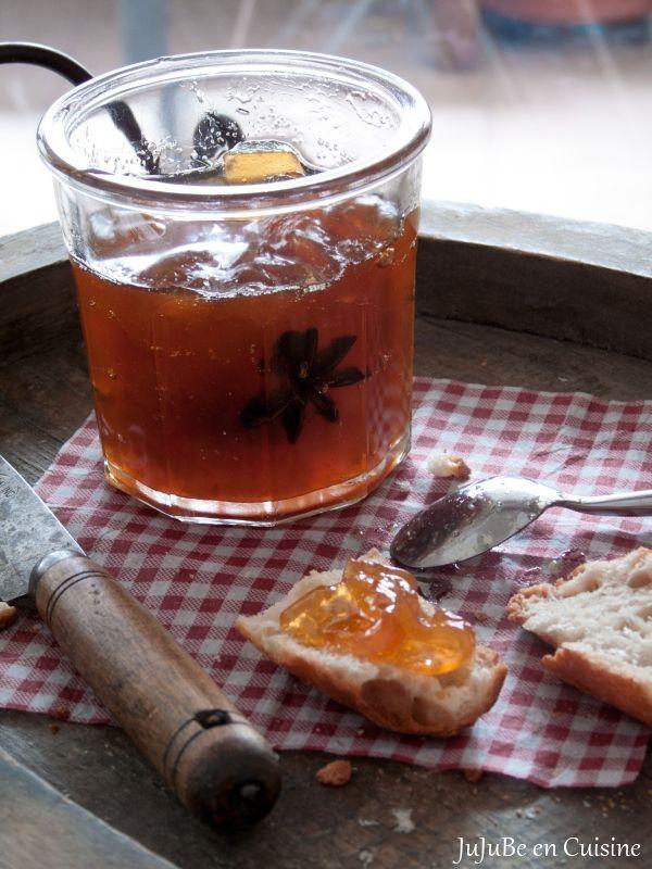 Confiture de Citre (ou Pastèque Blanche) au Rhum-Vanille et Anis Étoilé (ou Badiane) @ Jujube en Cuisine