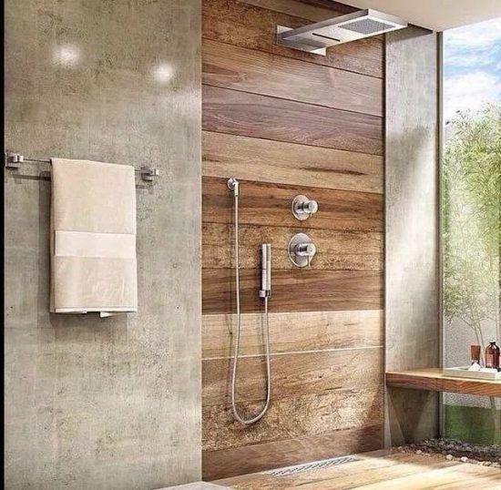 Baño madera